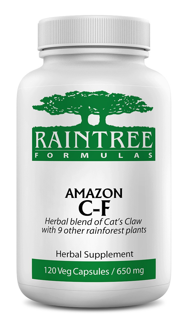 Raintree Amazon C-F Cold and Flu 650 mg 120 Capsules